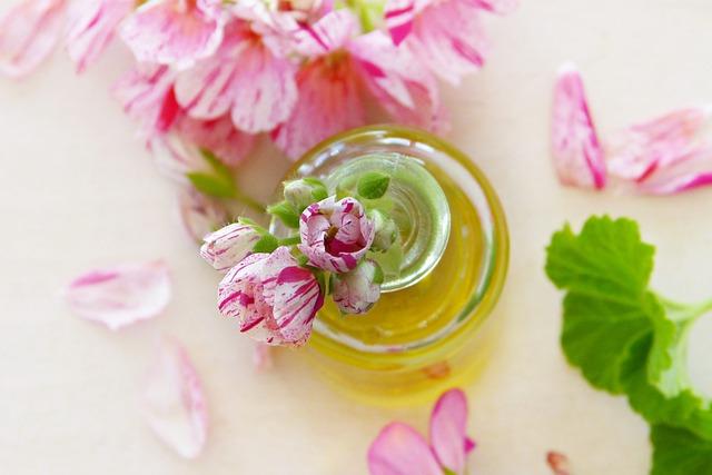 olej a květiny